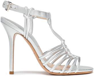 Michael Kors Knotted Metallic Leather Sandals