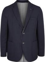 Lardini Navy Reversible Wool Blend Jacket