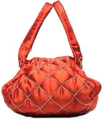 KHAORE Quilted Bead Trim-Style Handbag