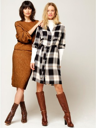 M&Co Check shirt dress