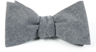 Tie Bar Classic Chambray Soft Grey Bow Tie