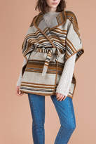 Suncoo Striped Wool Coat