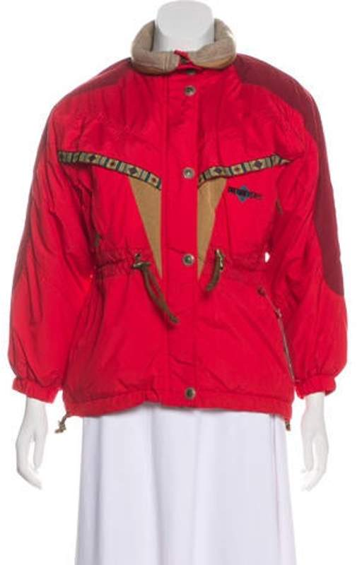 Obermeyer Girls' Embroidered Puffer Jacket w/ Tags Red Girls' Embroidered Puffer Jacket w/ Tags