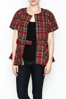 Gracia Short Sleeve Plaid Jacket