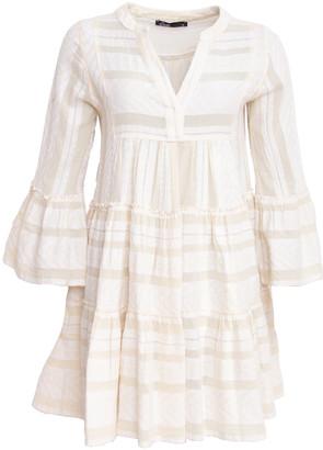 Devotion Short Aztek Dress Ella Ecru - XS