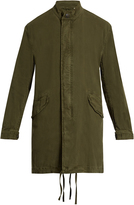 Vince Stand-collar linen and cotton-blend parka