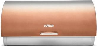 Tower Infinity Ombre Roll-Top Bread Bin Copper