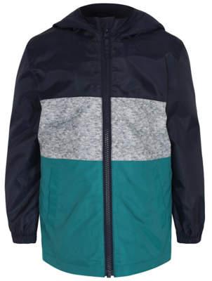 George Navy Shower Resistant Lightweight Hooded Jacket