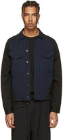 Indigo and Black Denim Arc Jacket
