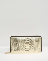 Asos Snake Embossed Leather Purse