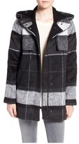Kristen Blake Women's Plaid Hooded Stadium Jacket