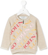 John Galliano logo zip-up jacket - kids - Cotton/Polyester - 12 mth