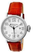 Heritor Automatic Olds Mens Camel Leather Magnified Date Watch
