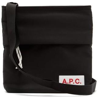 A.P.C. Logo-patch Technical-fabric Cross-body Bag - Black