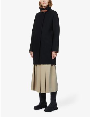 Sessun Nina faux shearling-lined wool-blend coat