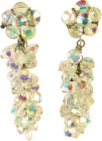 One Kings Lane Vintage AB Crystal Chandelier Earrings