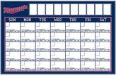 MLB Dry-Erase Calendar Decal, Minnesota Twins