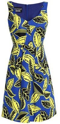 Moschino Printed Cotton-blend Jacquard Dress