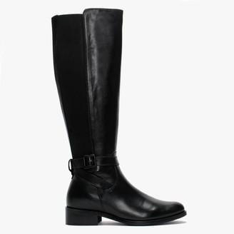 Daniel Ester Black Leather Knee High Boots