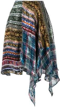 Preen by Thornton Bregazzi tie dye print clash dress