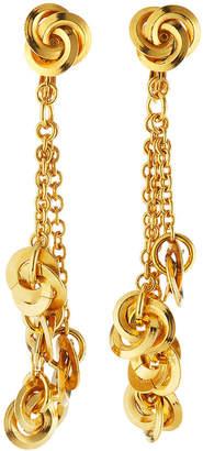 Jose & Maria Barrera Knots On Drop Chain Clip-On Earrings