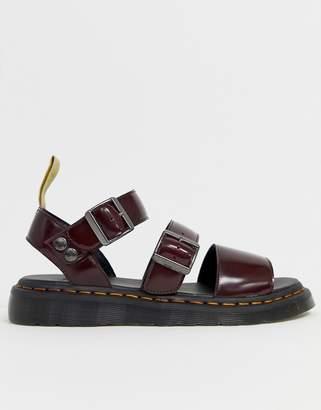Dr. Martens Vegan Gryphon strap sandals in red
