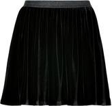 Juicy Couture Pitch Black Silk-Blend Velvet Skirt
