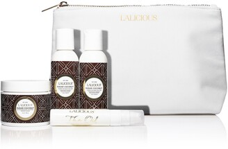 LaLicious Sugar Coconut Cleanse, Exfoliate & Moisturize Travel Set