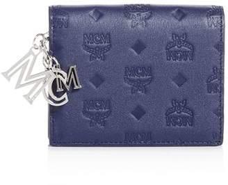 MCM Klara Embossed Leather Bi-Fold Wallet
