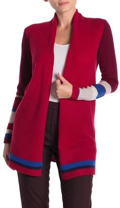 InCashmere In Cashmere Mixed Stripe Cashmere Cardigan