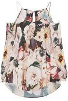 Haute Hippie Cold-Shoulder Floral-Print Crepe De Chine Top