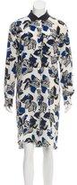 Marni Floral Print Silk Dress