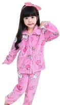 Cityoung Children's 2 Pieces Unisex Flannel Pajamas Set