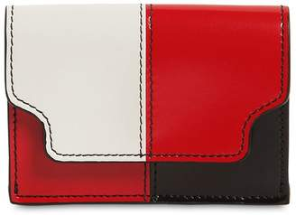 Marni COLOR BLOCK SAFFIANO LEATHER WALLET