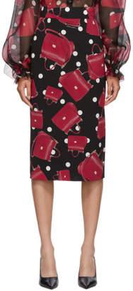 Dolce & Gabbana Black Sicily Bag Pencil Skirt