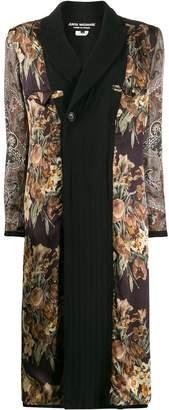 Junya Watanabe floral and paisley coat