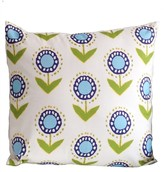 The Well Appointed House Dana Gibson Turquoise Posey Ikat Square Pillow