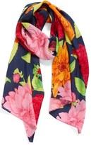 Echo Women's Cascading Floral Print Silk Scarf