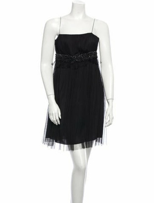 Andrew Gn Tulle Cocktail Dress w/ Tags Black