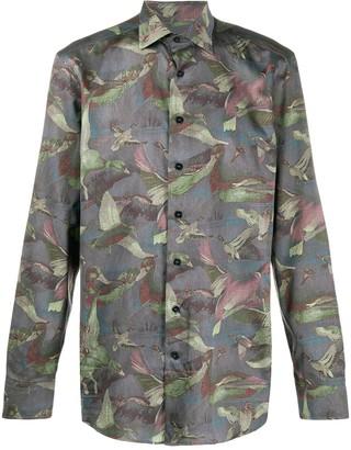 Etro Bird Print Button-Up Shirt
