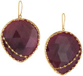 Lana 14k Heart Stone Red Sapphire Drop Earrings