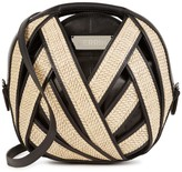 Perrin Paris Le Petit Panier Leather And Raffia Shoulder Bag