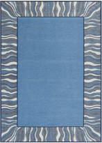 Denim Blue Waves Rug