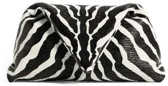 Bottega Veneta Zebra Print Leather Clutch Bag