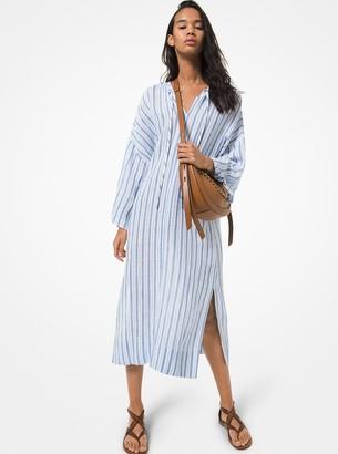 MICHAEL Michael Kors Striped Cotton and Linen Dress