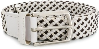 Brioni Check-Pattern Belt