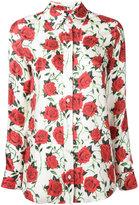 Alexander Wang rose print shirt - women - Silk - 2