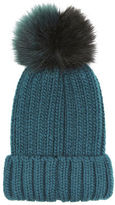 "Oasis JOSIE POM-POM BEANIE HAT [span class=""variation_color_heading""]- Teal Green[/span]"