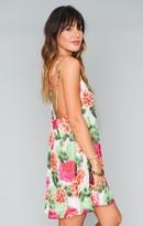 MUMU Criss Cross Applesauce Mini Dress ~ Cactus Bloom