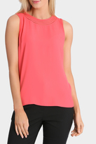 Basque Battenberg Lace Trim Sleeveless Tee